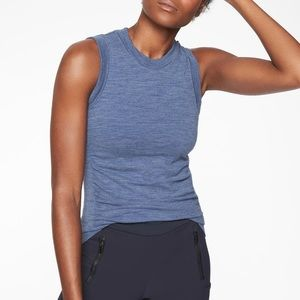 Athleta Foresthill Ascent Tank in Stormy Sky Small